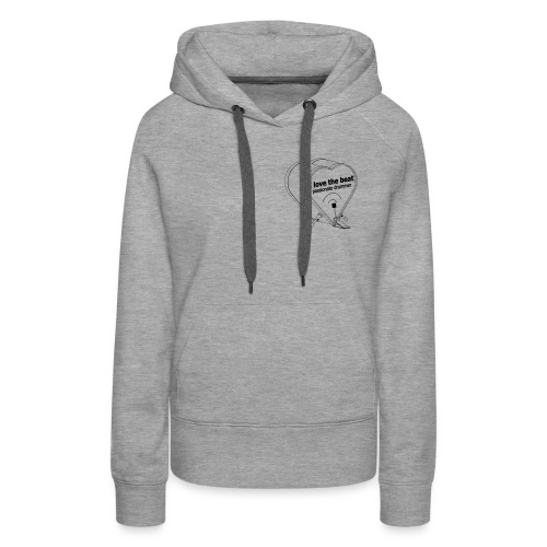 DJ I love the beat! rhythmus dancer bass drum - Women's Premium Hoodie