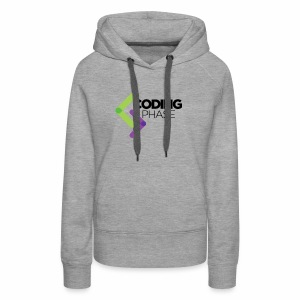 CodingPhase logo Black - Women's Premium Hoodie