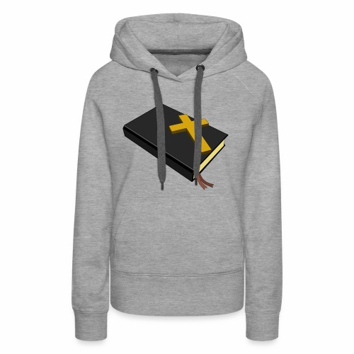 Bible And Cross - Women's Premium Hoodie