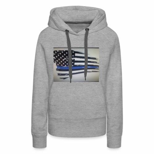 Back the Blue Flag Design - Women's Premium Hoodie