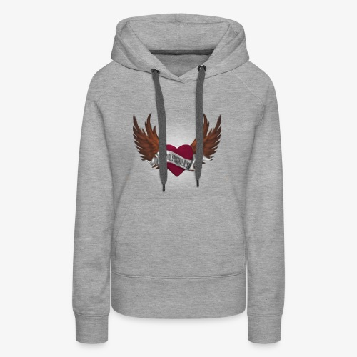 Never again memorial heart - Women's Premium Hoodie