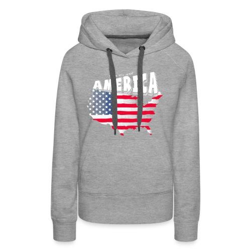 i love my graet america - Women's Premium Hoodie