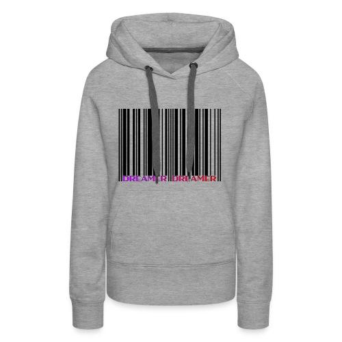 DREAMER Barcode (black-rainbow) - Women's Premium Hoodie
