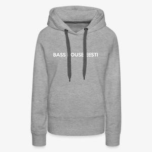 Bass House Eesti Logo White - Women's Premium Hoodie