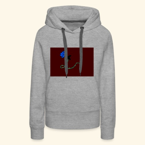 dove with blue rose logo - Women's Premium Hoodie