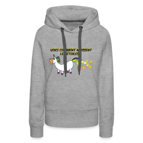 Unicorn - This is how stars are born - Women's Premium Hoodie