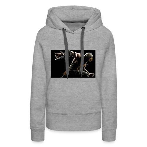 mortal kombat x scorpion wide - Women's Premium Hoodie