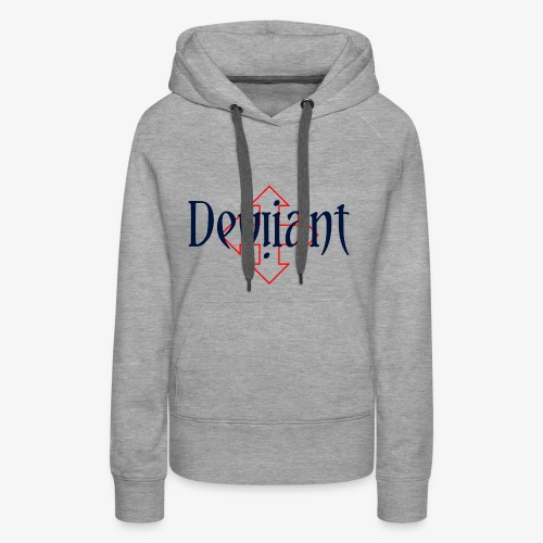 Deviiant blk center outl - Women's Premium Hoodie