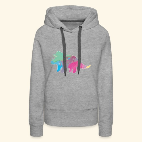 Triceratops color dinosaur - Women's Premium Hoodie