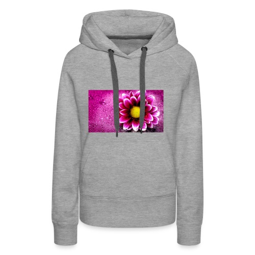 pink flower 4k 3840x2 - Women's Premium Hoodie