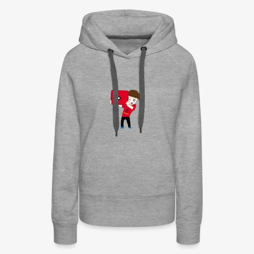 cool avater holding youtube play button - Women's Premium Hoodie