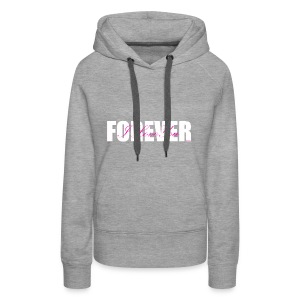 I LOVE YOU FOREVER Pink and White - Women's Premium Hoodie