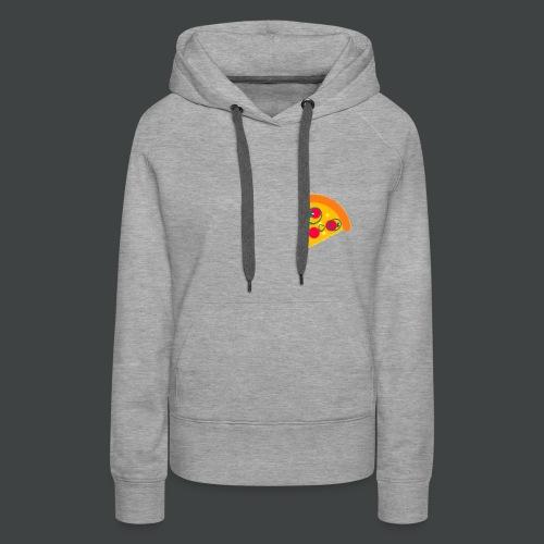 Cartoony Pizza Logo - Women's Premium Hoodie