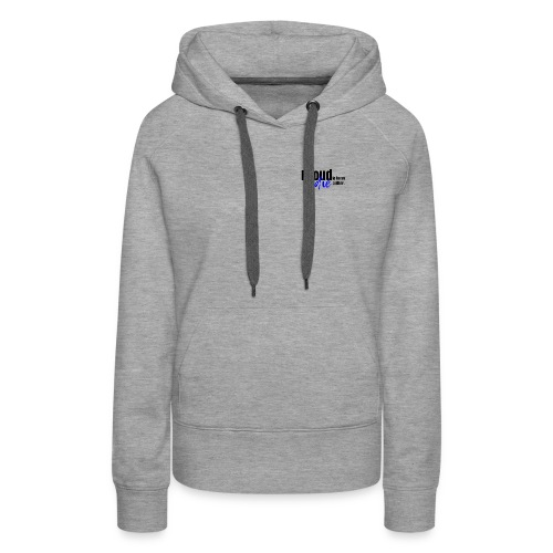 Proud to be an indie author in blue. - Women's Premium Hoodie