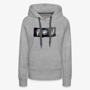 Abstract POV Worn Box Logo - Women's Premium Hoodie