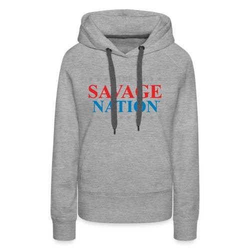 The Savage Nation Logo sch - Women's Premium Hoodie