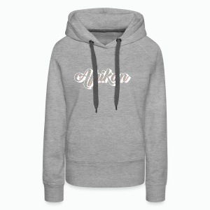 Cursive Afrikan White with no fill - Women's Premium Hoodie