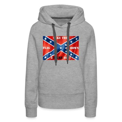 Confederate flag2 - Women's Premium Hoodie