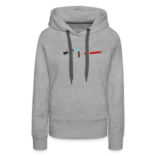 Dig It? Trollface Diamond Shovel - Women's Premium Hoodie