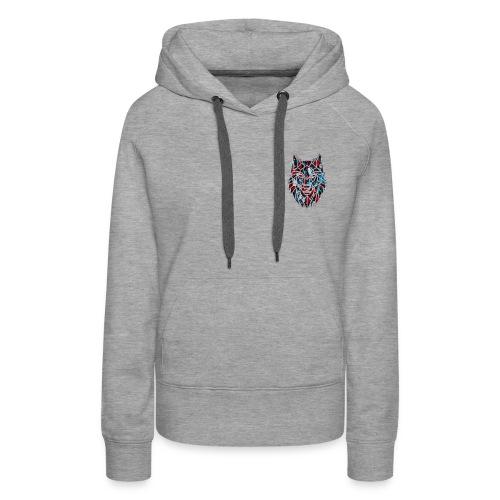 Red blue wolf merch - Women's Premium Hoodie