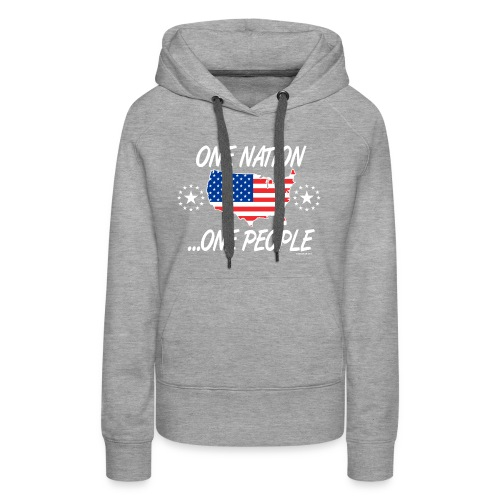 One Nation One People 2012 FRONT TRANSPARENT BACKG - Women's Premium Hoodie