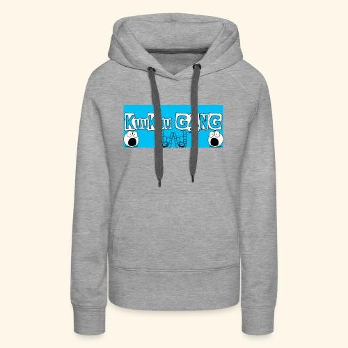 kuukuu gang blue - Women's Premium Hoodie
