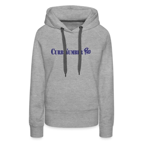 Blue Curb Number Pro Logo - Women's Premium Hoodie