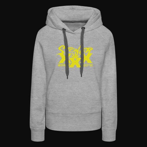 Stoner XXX Design by Beviyan the Design Queen - Women's Premium Hoodie
