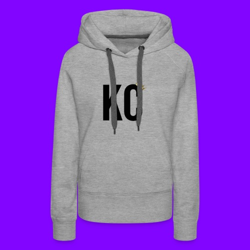 Black Font KC - Women's Premium Hoodie