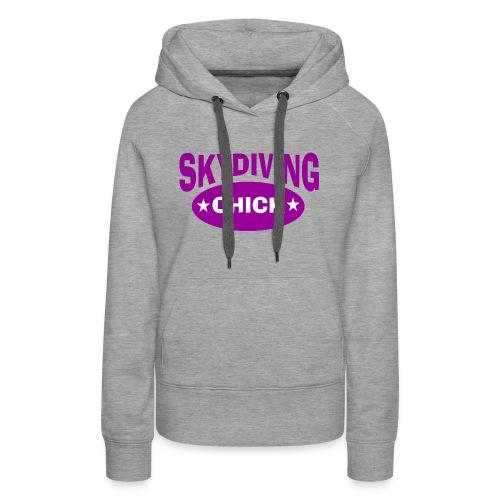 Skydiving chick - Women's Premium Hoodie