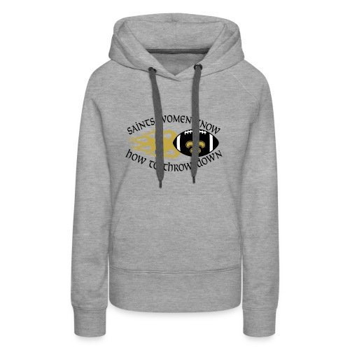 Saints Women Throwdown Light - Women's Premium Hoodie
