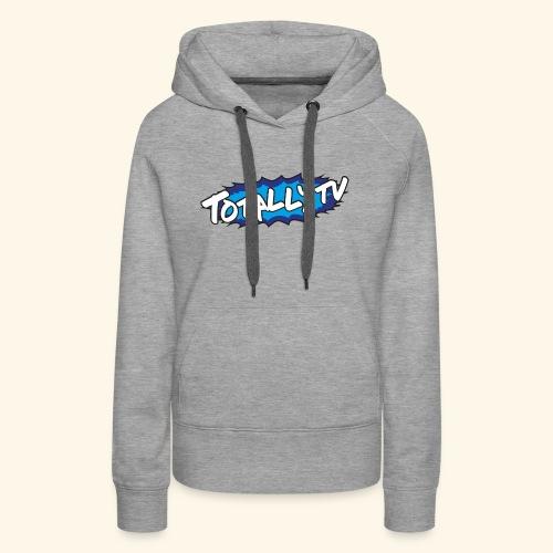 Totally TV Burst Logo Blue on Blue - Women's Premium Hoodie