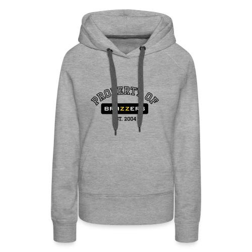 Property of Brazzers logo outline - Women's Premium Hoodie