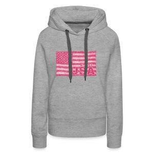 4th July American Flag Independence Day vintage - Women's Premium Hoodie
