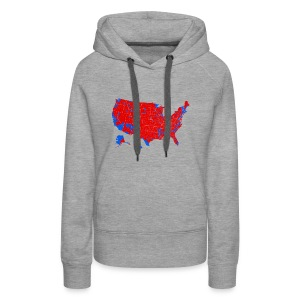 2016 Presidential Election by County - Women's Premium Hoodie