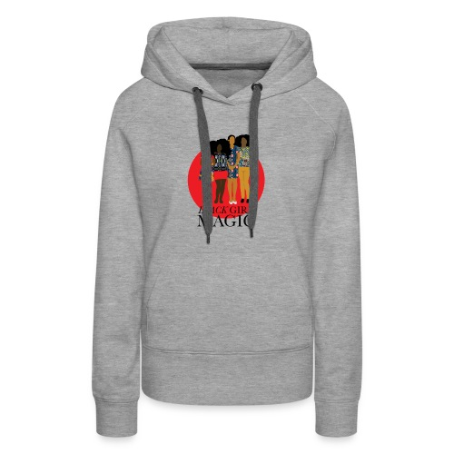 Red Pink Black girl Magic Design 2 - Women's Premium Hoodie