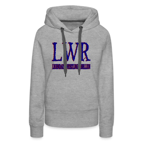 LWR RED AND BLUE LOGO - Women's Premium Hoodie