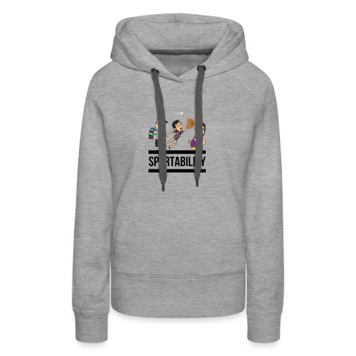 Spurtability Black Text - Women's Premium Hoodie