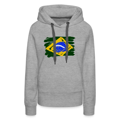 Brazilian Flag - Women's Premium Hoodie