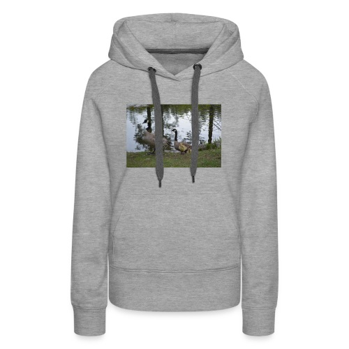 Geese w/ young - Women's Premium Hoodie