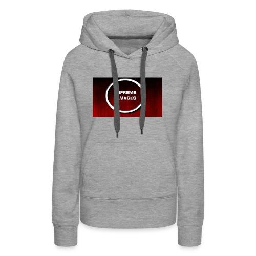 Black Red Grunge Texture - Women's Premium Hoodie
