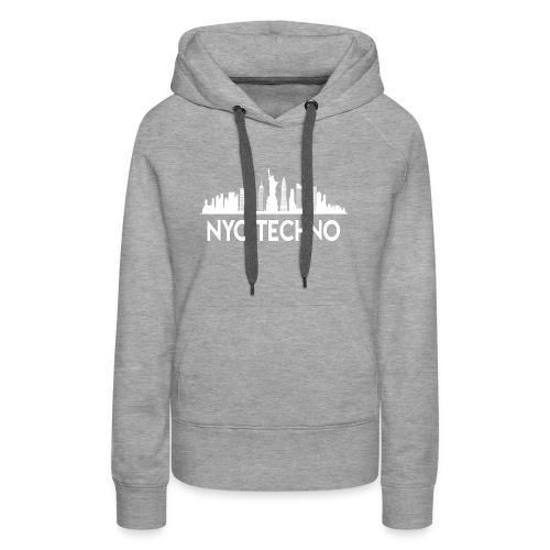 NYC Techno Skyline - Women's Premium Hoodie