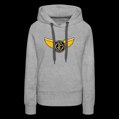 Winged Out Black/Yellow - Women's Premium Hoodie