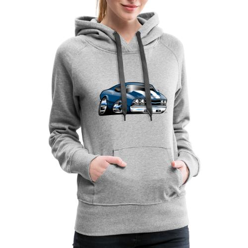 69 Muscle Car Cartoon - Women's Premium Hoodie