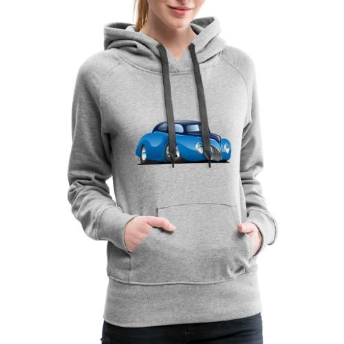 Classic 39 Street Rod Coupe Custom Car Cartoon - Women's Premium Hoodie