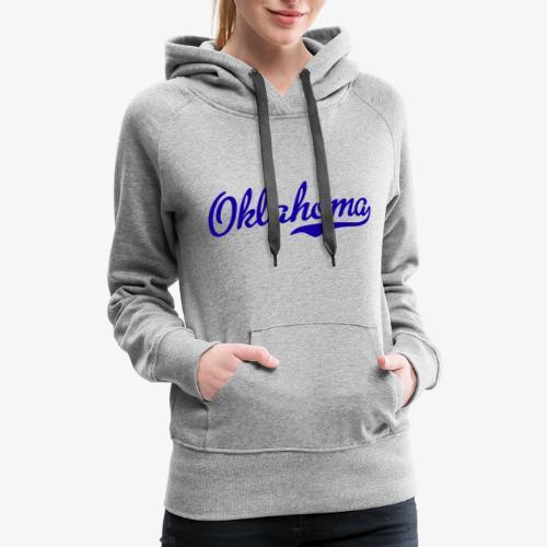 Oklahoma Script Blue - Women's Premium Hoodie