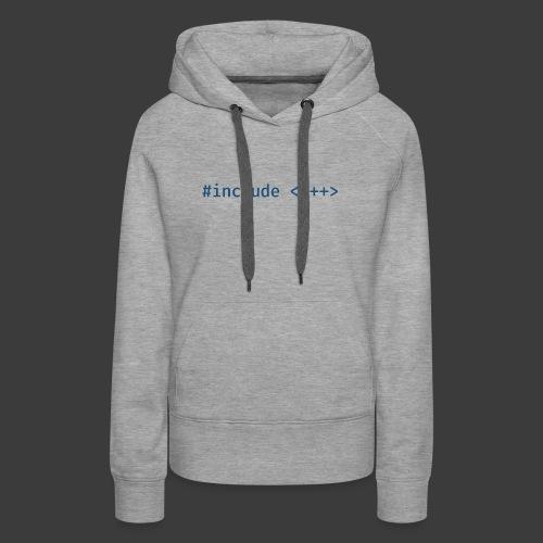 Blue Include Logo - Women's Premium Hoodie