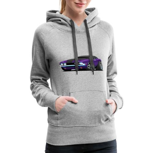 Classic Muscle Car Cartoon - Women's Premium Hoodie
