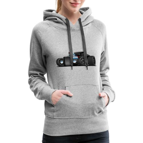 Custom Black Hot Rod Coupe - Women's Premium Hoodie