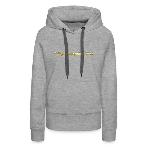TROLLIEUNICORN gold text limited edition - Women's Premium Hoodie